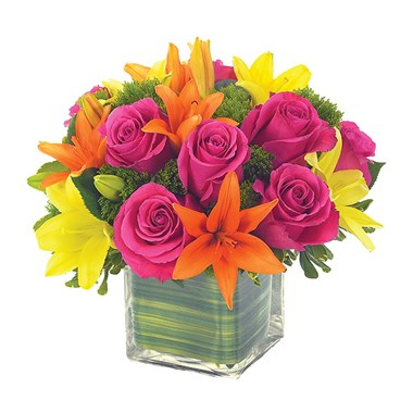 Lovely lily & rose celebration flower bouquet (BF90-11)